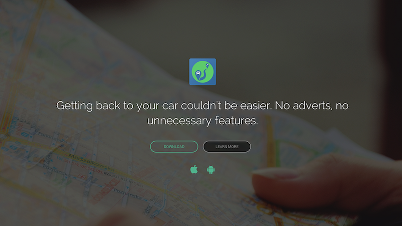 Back to Car, a hybrid app based on Ionic